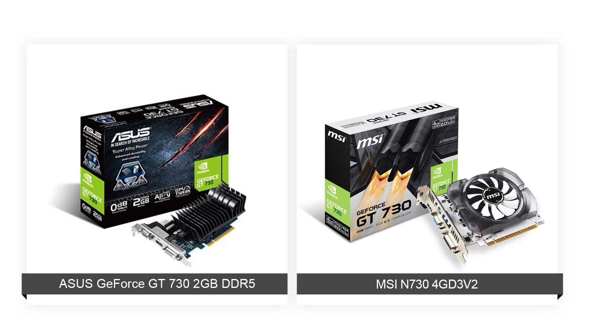 ASUS GeForce GT 730 2GB DDR5 Vs MSI N730 4GD3V2