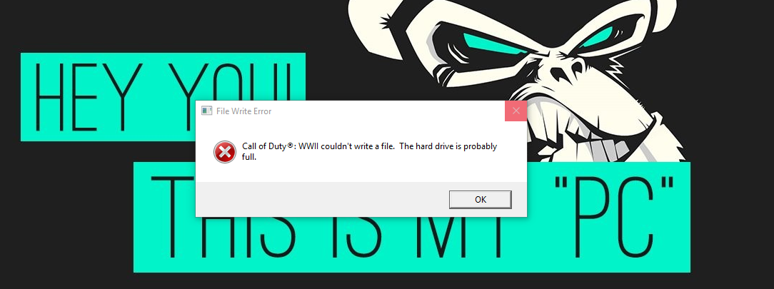 Call of Duty WWII (File Write ( the hard drive is probably full