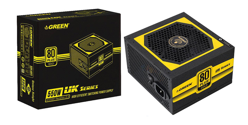Green GP555A-UK 80 Plus Gold Power Supply