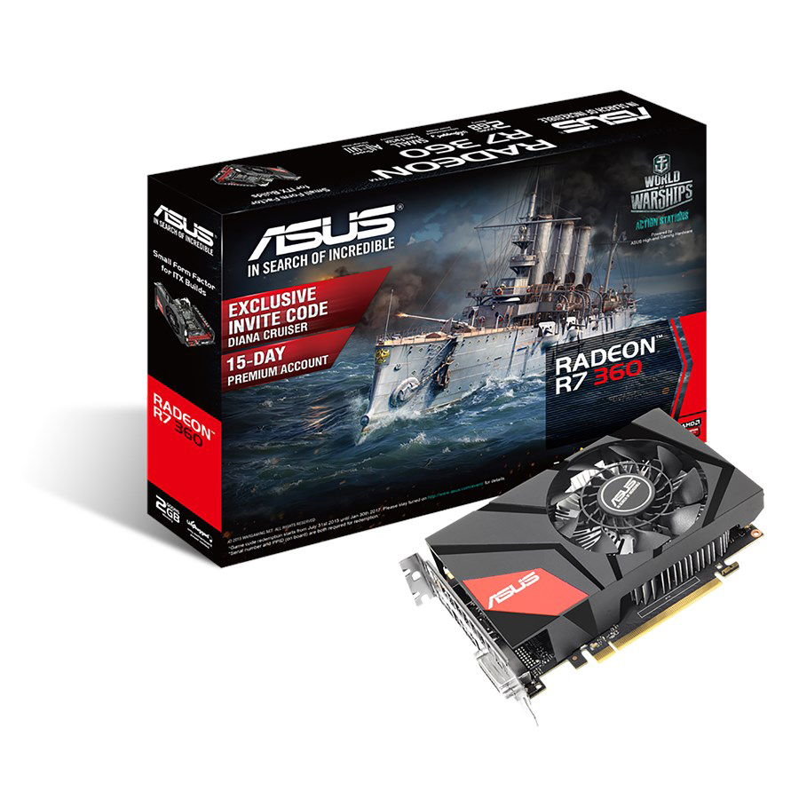 ASUS MINI-R7360-2G Graphics Card