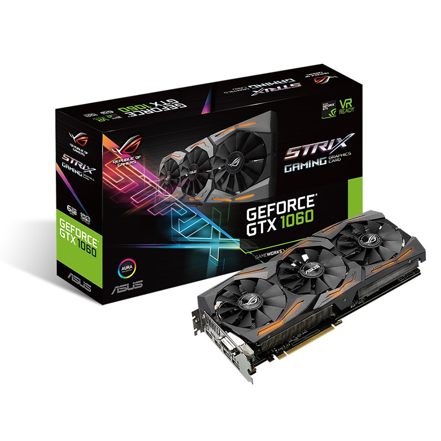 ASUS ROG STRIX-GTX1060-O6G-GAMING Graphics Card