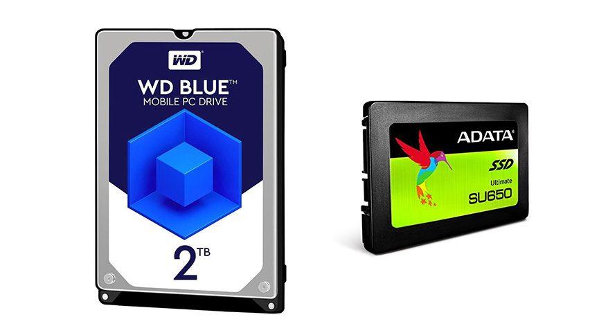 ADATA SU650 240GB & WD BLUE 2TB
