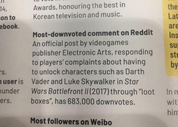 EA رکورد گینس دریافت بیشترین دیسلایک کامنت در وبسایت Reddit را شکست