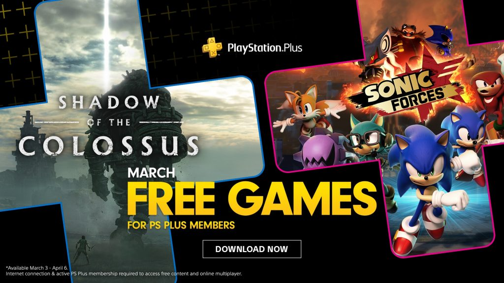 playstation-plus-march-2020-shadow-of-the-colossus-sonic-forces