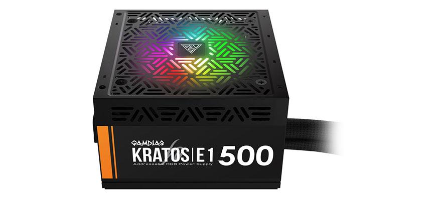 GAMDIAS KRATOS E1 500W RGB 80 PLUS