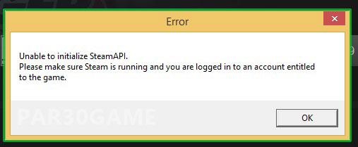 حل ارور steamApi