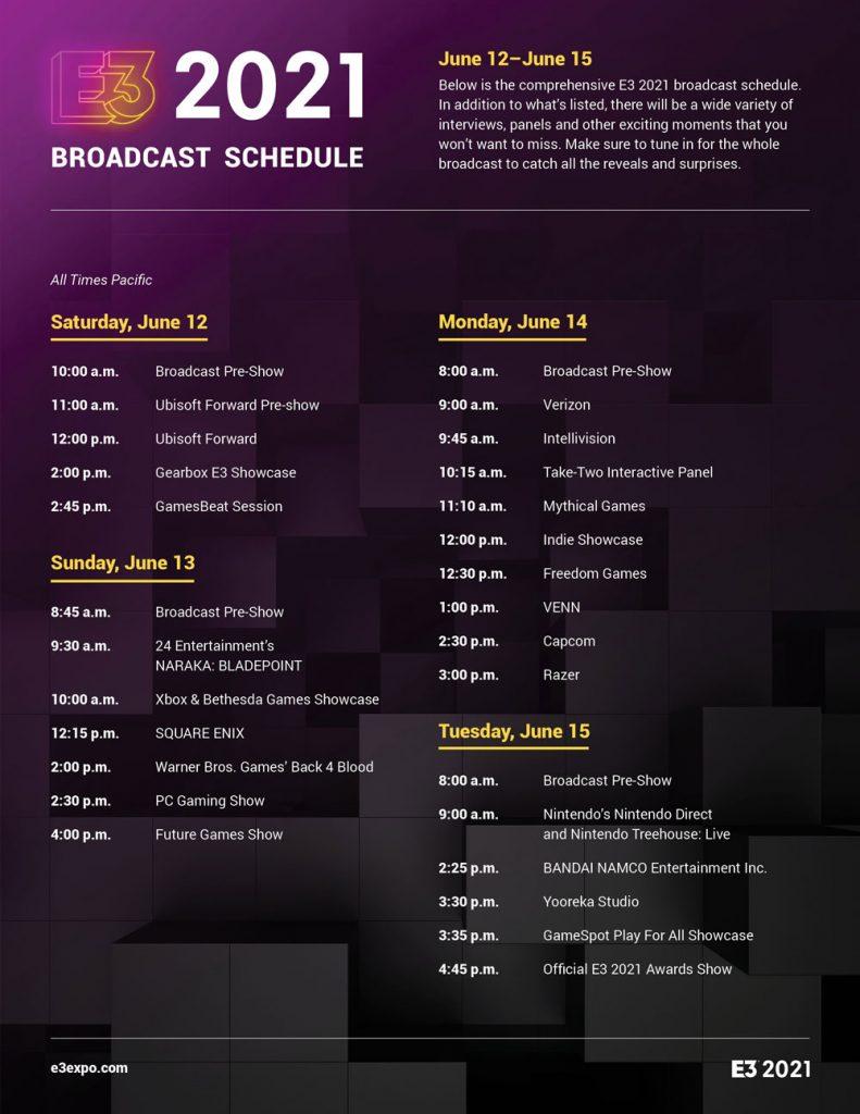 زمانبدی کنفرانسهای E3
