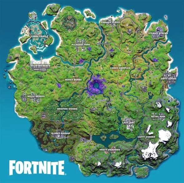 نقشه بازی فورتنایت