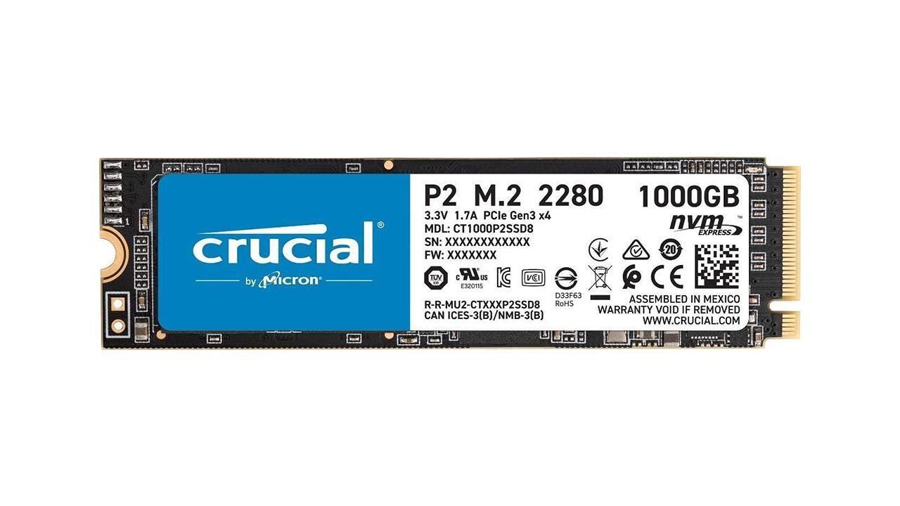 CRUCIAL P2 PCIe M.2 2280 NVMe 1TB